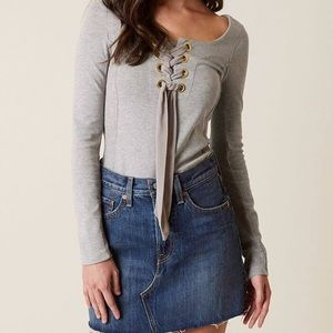 Free People Womens Lace Up Top - Sample
